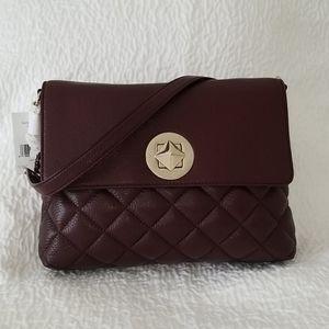 Kate Spade Gold Coast Eggplant Leather Handbag NWT